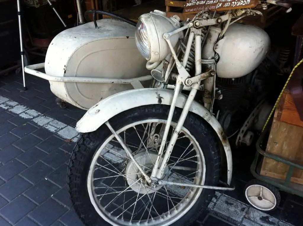 Vintage Motorcycle at Jaffa Flea Market - (c)  MAITE ELORZA