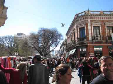 jennifer yin Buenos Aires Feria de San Telmo beginning of the fair at Plaza Dorrego