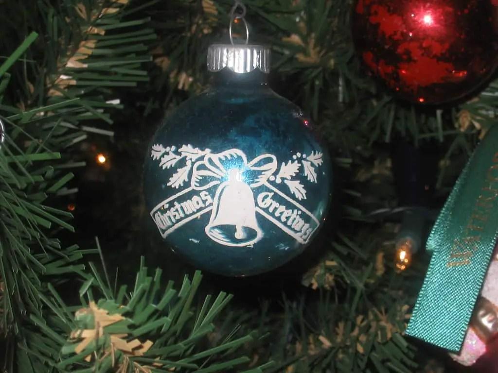 ribarnica Vintage glass Christmas baubles