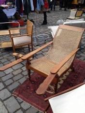 Karen Mardahl Chair with cup holder At the Arkonaplatz flea market.