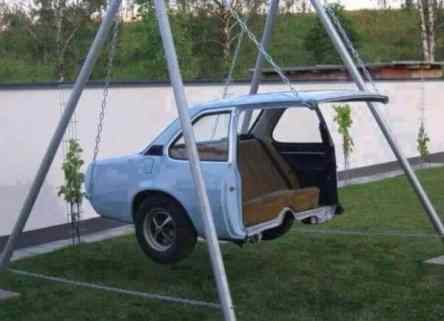 Car Recycling Garden Swing