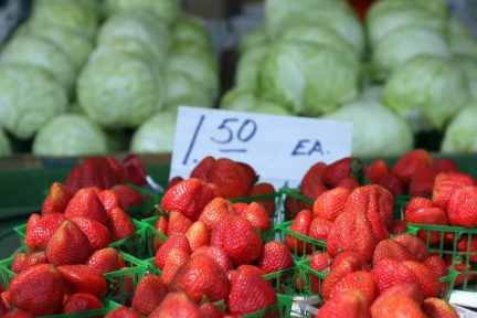 Strawberries at San Jose Farmers Market