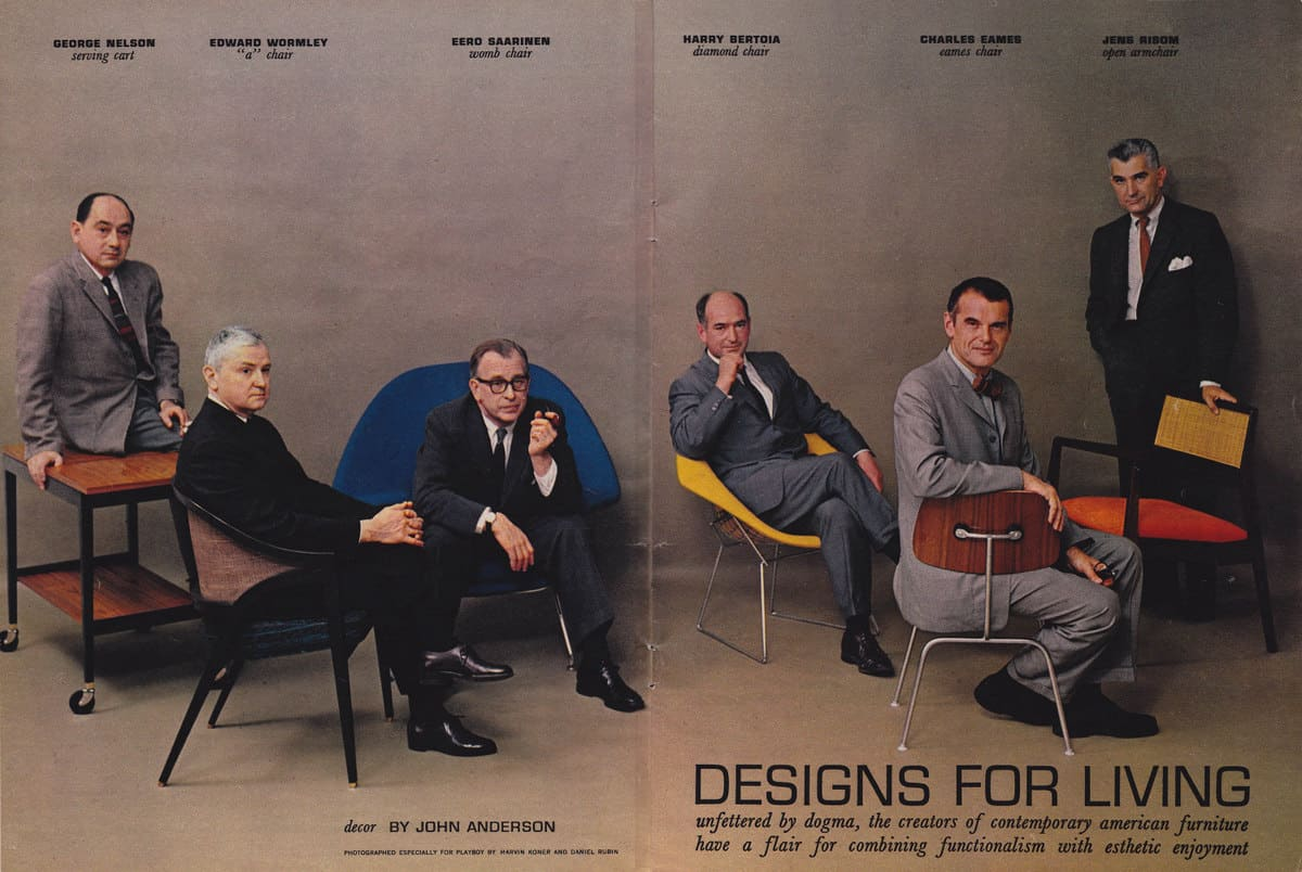 Modern Furniture Knockoffs 1-mid-century-modern-furniture-designers-in-playboy-july-1961