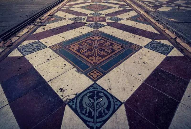 Use Of Actual Vintage Floor Tiles3