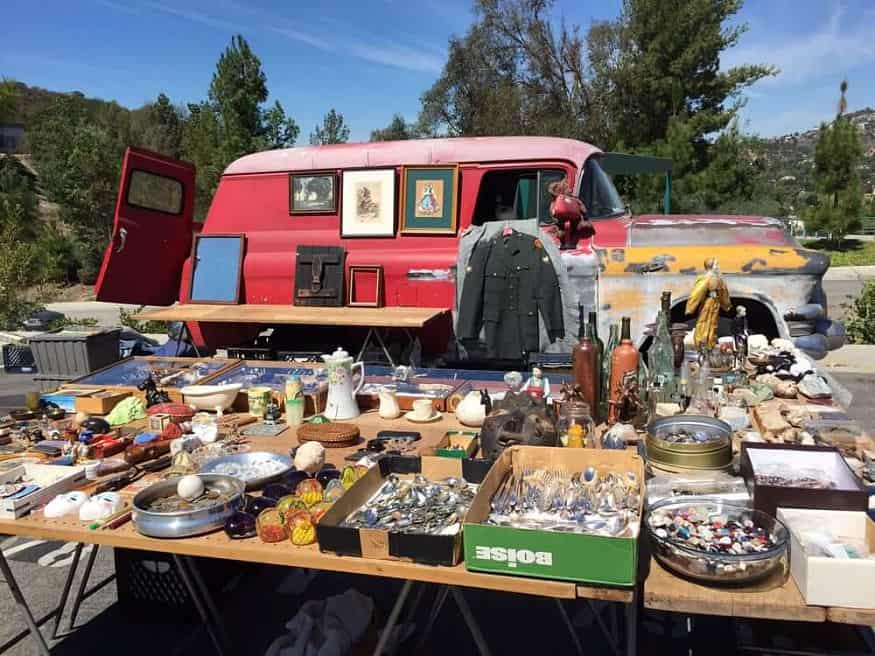 Best flea markets in LA: View of GCC Swap Meet flea market