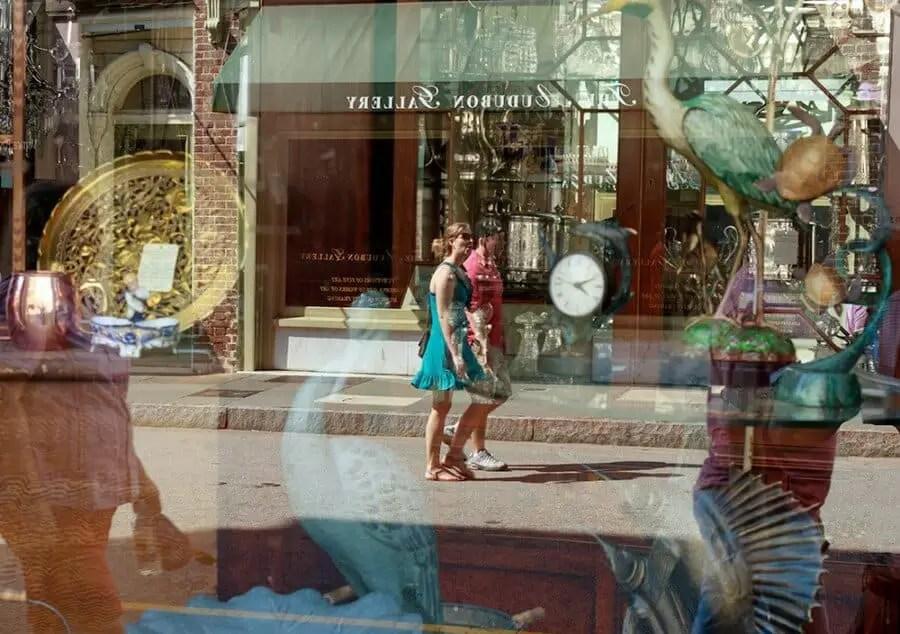 Ken Dodds antique shop reflections Charleston