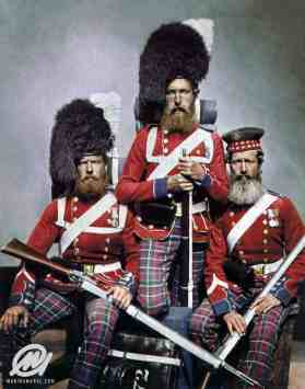 Men of 72 Highlanders who served in the Crimea