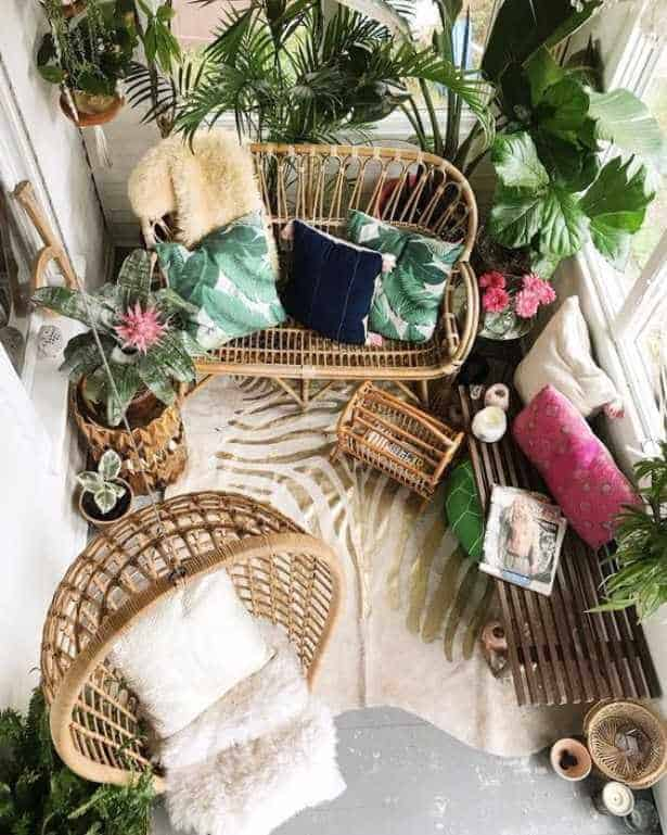 Rattan is making its comeback in the home – photo by vintageindustrialstyle.com