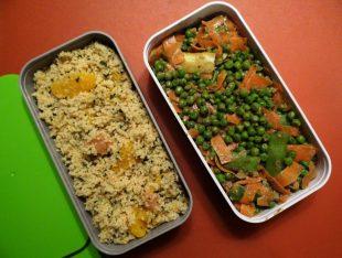 Fleanette's Kitchen - Taboulé aux agrumes - Petits pois carottes aux épices