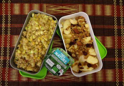 Fleanette's Kitchen - Taboulé de Quinoa, Muesli pomme Cranberry