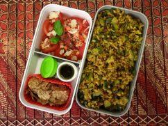 Fleanette's Kitchen - Tomate basilic et riz aux courgettes à l'indienne