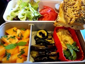 Fleanette's Kitchen - Petit pain au houmous et légumes grillés