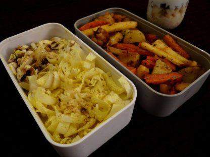 Endives et champignons, légumes d'hiver rotis et overnight oatmeal - Fleanette's Kitchen