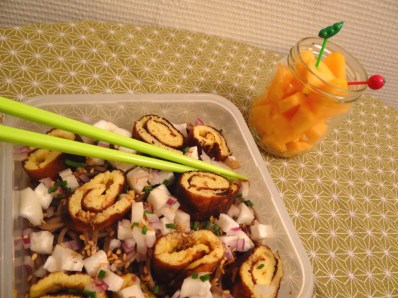 Bento Salade de soba et melon - Fleanette's Kitchen