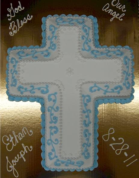 Baptism Sheet Cakes For Boys