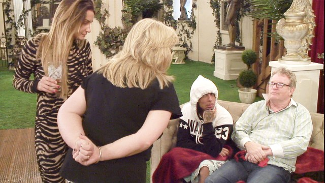 Sam, Linda, Dappy and Jim in the garden IMAGE PROVIDED BY CHANNEL 5