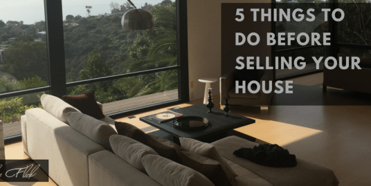 Five things to do before selling your house