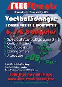 voetbal 3 daagse sport plezier fun evenement flee events