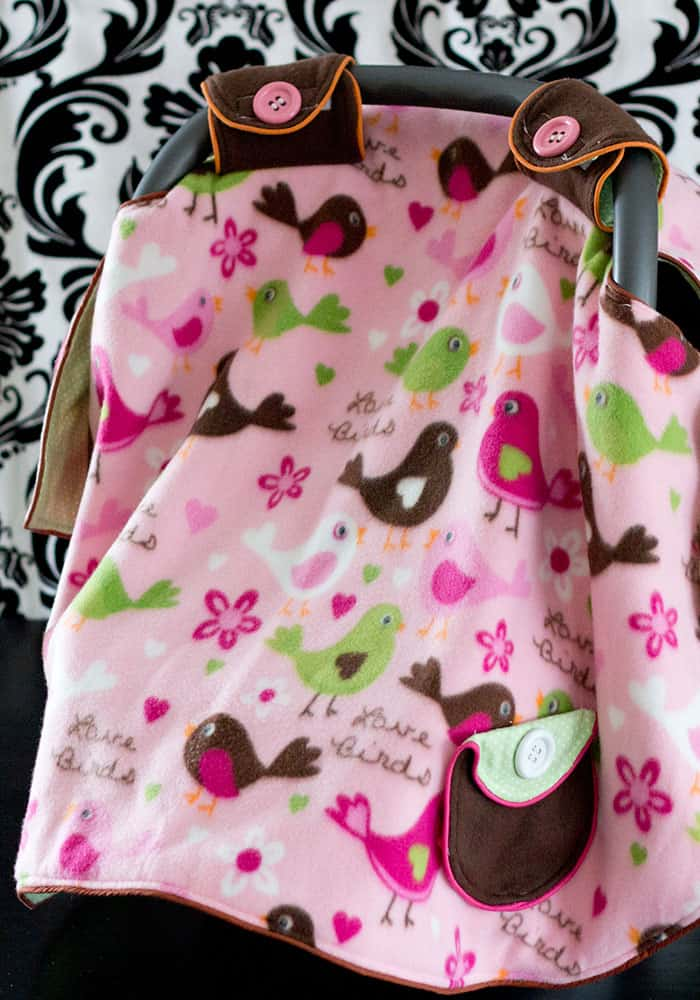 You can make a baby car seat canopy or tent! This free baby car seat canopy pattern includes a pdf and video tutorial to walk you through it step by step. With easy to follow written instructions as well.