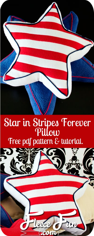 I love this patriotic pillow sewing pattern.  It's FREE and is so perfect for the summer holidays.  Love her step by step DIY instructions too.  Great idea.