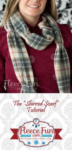 Parade Scarf Or Shirred Scarf – free scarf tutorial