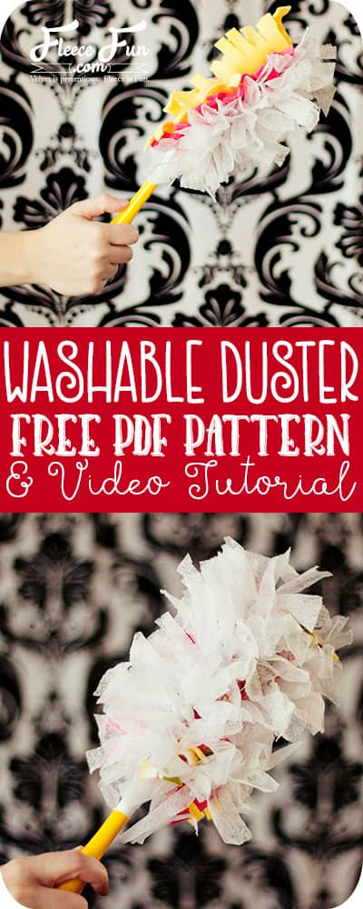 This easy to sew washable duster tutorial uses a combination of fleece and used dryer sheets.  Reusable and upcycled DIY!  Such a great sewing project idea.