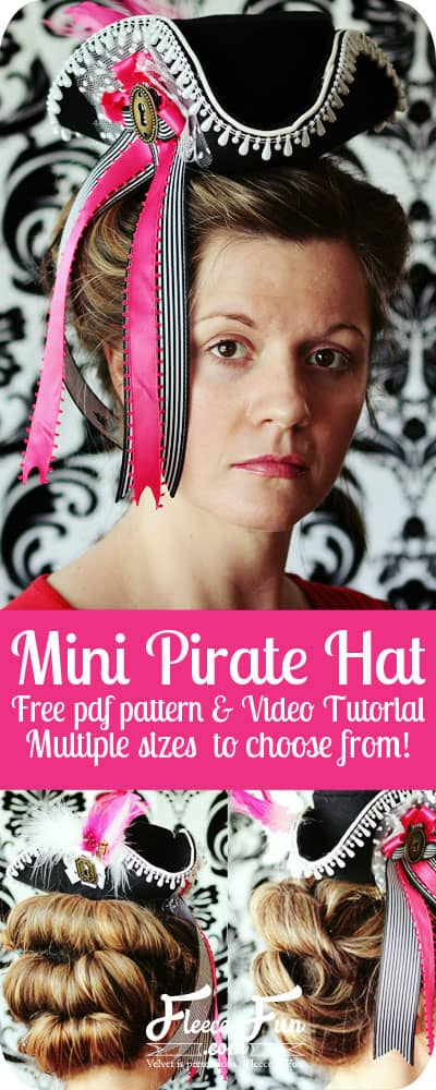 You can make this mini pirate hat! Free pdf pattern and video instructions make it so easy!