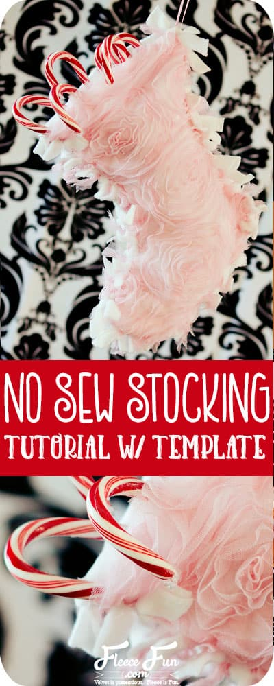 I love this no sew Christmas stocking tutorial. It looks so easy to make! Perfect for Christmas and holiday gifts. This Christmas stocking is easy to make and made from fleece. No Sew Christmas Stocking Patterns is a great no sew fleece projects.