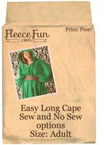 Easy long cape adult
