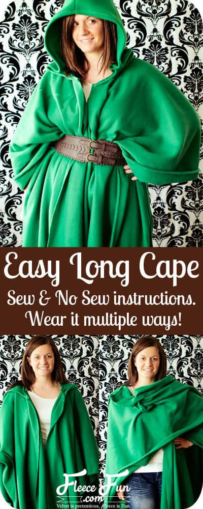 Free Long Cape Pattern Easy Sew or No Sew