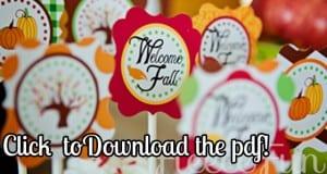 Free fall cupcake topper download
