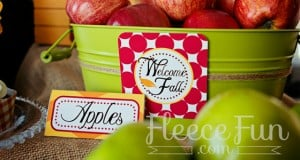 Free fall tent cards and large squares download feature