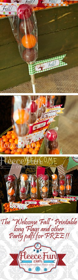 "I love this free printable and cute ""gumball"" lollipops you can make.  Fun fall DIY for parties."
