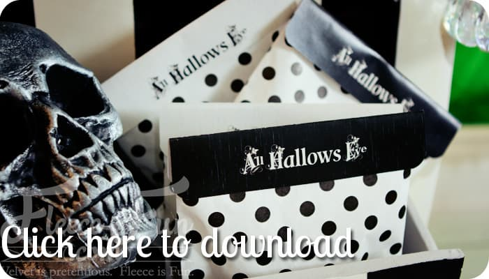 bag topper printable feature