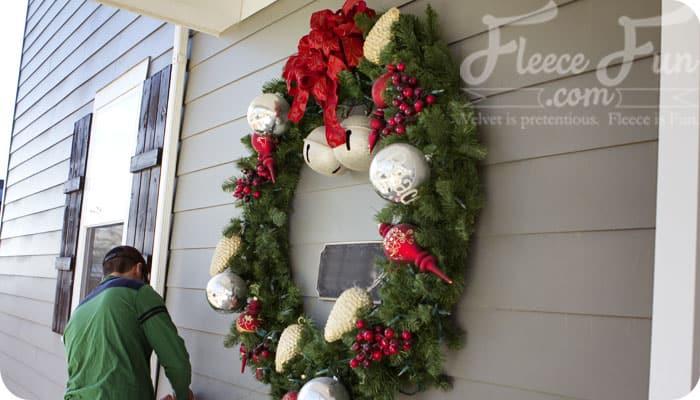 cute big christmas wreath