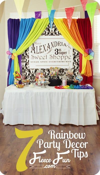 rainbow party decor tips
