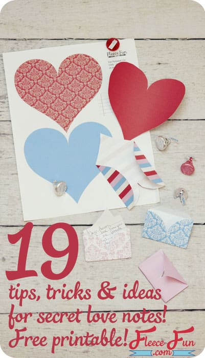 free valentines note heart printable
