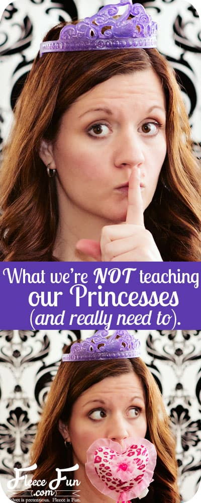 What we're not telling our princesses. I love some of the points she makes.
