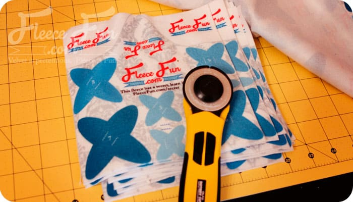 fabric business card cut out peices