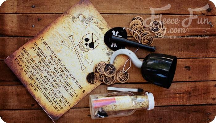 Pirate party invitation printable