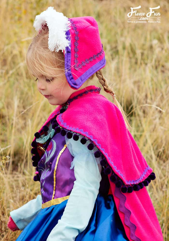 You can make a cape that is inspired by Princess Anna's cape form Disney's Frozen . This DIY costume idea is perfect for your little Disney Princess. The video makes it easy to sew.