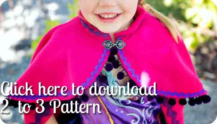 princess anna cape tutorial