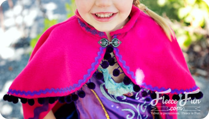 You can make a cape that is inspired by Princess Anna's cape from Disney's Frozen