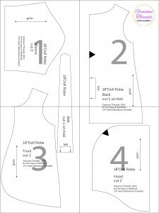18″ Doll Robe free pattern