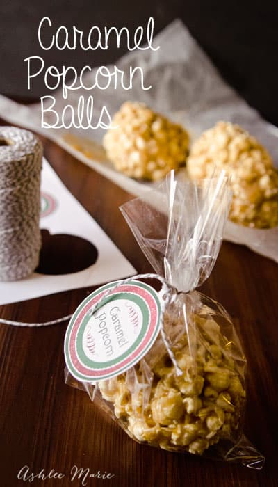 caramel popcorn balls are not only delicious but make great holiday gifts