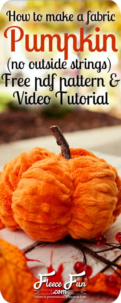 I love how this sewing DIY has the pumpkin shape down perfectly. No outside strings - and it's so cute. I wan to make this for my mantle for fall decor. Perfect for Autumn.