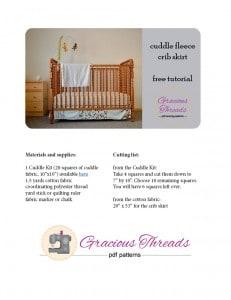 crib bedding ebook cover