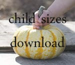 child sizes download