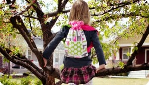"Cute Drawstring backpack tutorial has a ""sew along"" style video series to walk you through it step by step! Love this! I know who I want to make this for."