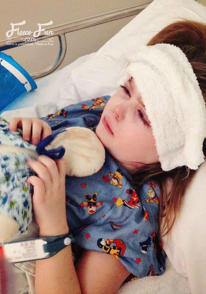 little girl hospital